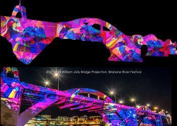 William Jolly Bridge Projection – Brisbane Festival