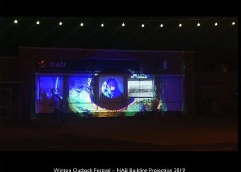 NAB Building Projection – Winton Outback Festival